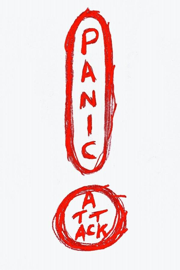 Artist Brad Siskin's representation of a panic attack.